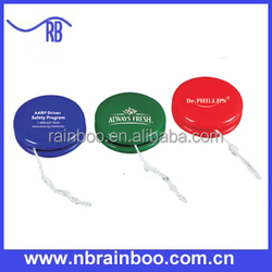 Hot selling Promotional retractable Plastic toy yoyo with logo printing ABGS106