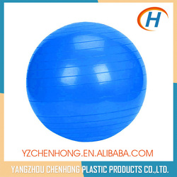 Blue Color Anti-burst PVC Fitness Custom Inflatable Exercise Ball With Logo