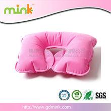 Cute inflatable neck pillow/folding pvc neck pillow/U-shape neck pillow