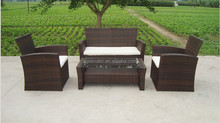 rattan coffee table and chair set garden furniture