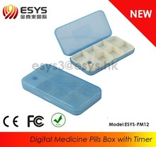 Talking Alarm Clock And Medication Reminder 7 day Pill Box Model:ESYS-PM12