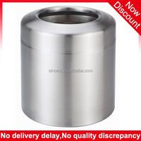 Best selling products in america stainless steel bronze color desktop trash can, mini trash can