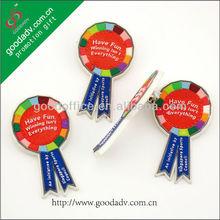 Novelty colorful promotion soft plastic pvc badge