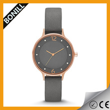 Stainless steel case slim watch movement water resistant for ladies