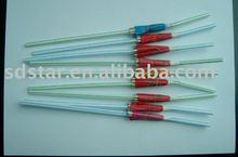 umbrella plastic drinking straw(flexible straw)