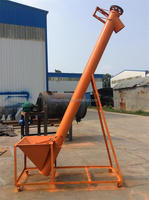Silo cement grain small spiral flexible screw conveyor