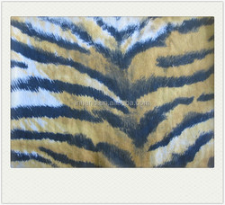 tiger vein design 100% rayon satin printed fabric for short sleeve wholesale