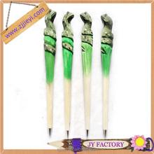 colorful wood craved pen,bulk ballpoint pens for sale,reasonable price wood animals pen