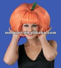 Hot Fashion pumpkin girl wig funny halloween wig