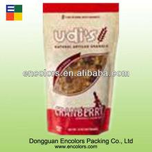 la impresión atractiva bolsa de compuesto para granola