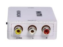 compuesto mini hdmi a rca cvbs av convertidor para dvd vcr 720p 1080p