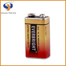 2015 Hot Sale Carbon Zinc 6F22 9V Battery Made in China