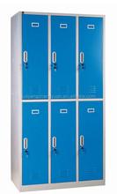 Kids metal locker room furniture customized 6 door student locker