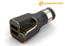 colorful dual ports usb car charger for cellphone,Car charger with air purify function