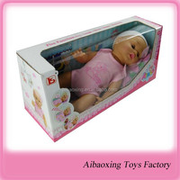 light sensitive sleeping child toy play doll 16 inch baby doll with function