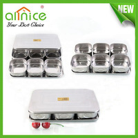 buffet service stainless steel indian spice box / Seasoning Box for restaurant