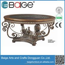 D1600B Good Quality coffee table price wagon wheel coffee table glass and metal coffee tables
