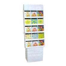 gift card cardboard display shelf supermarket bread display box with logo