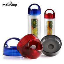 2015 Custom Design BPA FREE Plastic easy to take Orange Lemon Infuser Water Bottles