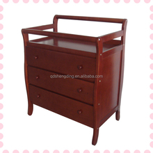 Wholesale wooden chest of drawers adult changing table wooden chest of drawers