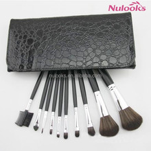 make up brushes professional black and red and golden color 10pcs set