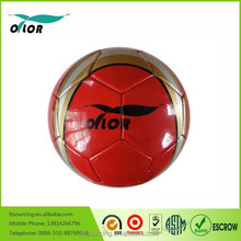 Size 5# Red PVC machinestiched football promotional ideas