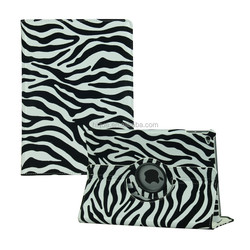 Sleeping smart case PU Leather Stand Cover for ipad air 2 rotating Case Zebra Pattern Printing