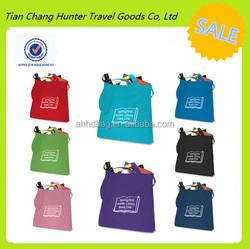 China Alibaba promotional wholesale custom colorful eco folding reusable shopping bag