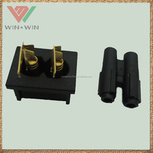 Brass Power 2 Pin Male Female Connector for C7 Power Cable Ends