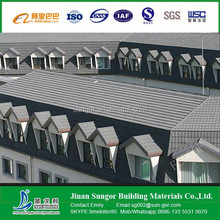 colorful sand coated metal roofing tiles/stone coated chip steel roof tile