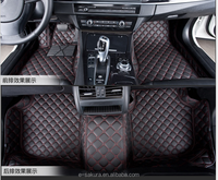 Top quality 3d leather car mat car floor mat fasteners for Audi A1