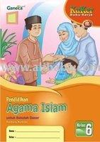 Buku Kerja Agama Islam SD 6 KTSP Book