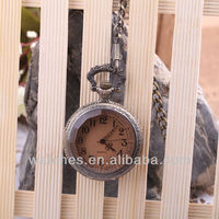 Old style unique pocket watch body with transparent cover PW1028