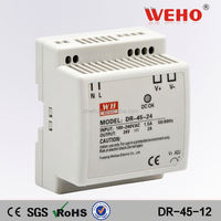 DIN Rail switching DR-45-12 dc regulated power supply 12v