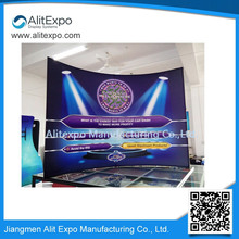 Customize logo straight&curved optional fabric stand