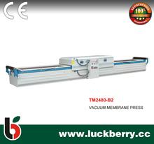 Double worktables veneer vacuum membrane press