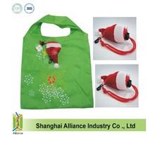 Xmas Santa Hat Foldable Shopping Bag