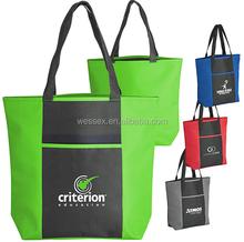 Two-Tone Polyester Shoulder Bag Lady Tote Bag Oxford Shopping Bag