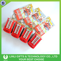 Advertising firetruck led key chain with sound