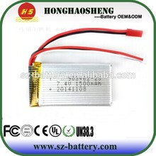 2015 top sale rechargeable lipo battery 25C 903462 li-ion battery 3.7v 1500mah with RC helicopter