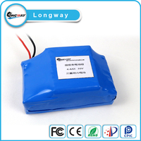 Rechargeable 36v 4.4ah 10s2p lithium battery pack with BMS for twisting electric skateboard