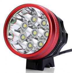 Classic Multi-function Rechargeable Black Aluminium 8 x T6 LED High Power 6X 18650 led light bike