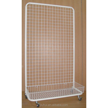 floor standing grid wire display rack