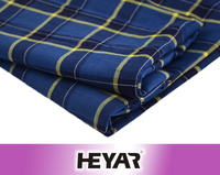Wholesale Cotton Yarn Dyed Checks/Plaid Woven Custom Indigo Blue Dyeing Flannel Shirting Fabric Textiles