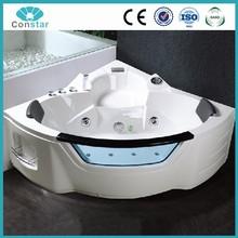 CONSTAR White color Euro commercial copper switch sex massage bathtub