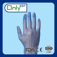 Pet care product dark blue disposable veterinary vinyl gloves