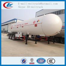 Factory direct supply asme tri axle 58.5cbm 25ton used lpg semi trailer, clw lgp gas trailer, bulk lpg trailer