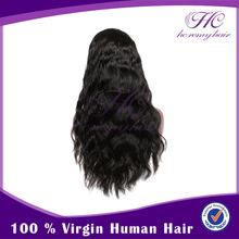 Most demanded products in india pineapple human hair grey wave natural color lace front dreadlock wig