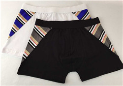 Homens roupa interior de algodão barato preto liso boxer curto