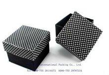 2012 fashion and beautiful black paper ring box